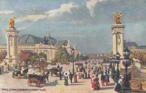 PARIS, France, 1900-10s; Le Pont Alexandre et le Grand Palais ; TUCK 111 No 75