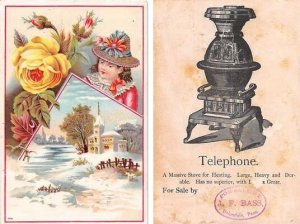 Approx Size Inches = 3.50 x 5.25 Trade Card Unused wear and yellowing on back