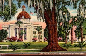Florida Deland Volusia County Court House 1956 Curteich