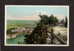 NY Rondout Valley Mohonk Lake from Sky Top New York Postcard Phostint