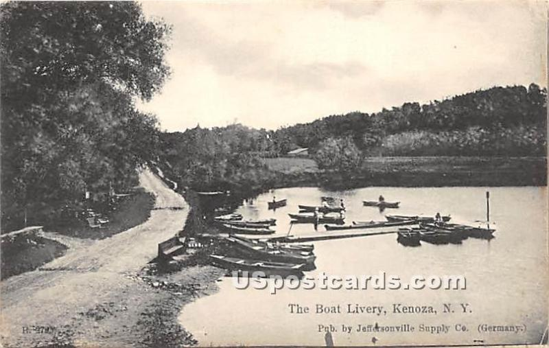 The Boat Livery Kenoza Lake NY 1908