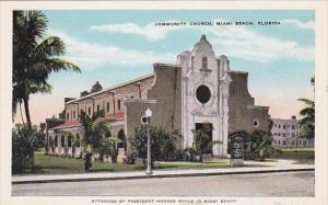Florida Miami Beach Community Church 1949