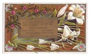 Victorian Trade Card John Wanamaker Grand Depot Dry Goods