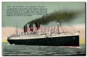 Old Postcard Boat Ship Le Havre Paris