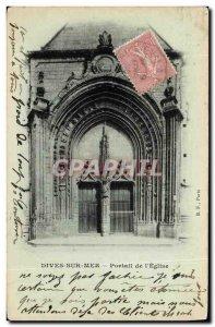 Old Postcard Dives sur Mer Church Portal