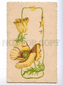 234661 POPPY Vintage HAND PAINTER Water Color postcard