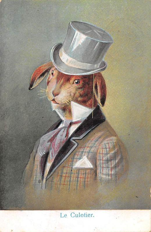 Easter, Humanized Rabbit, Bunny Le Culotier suit clothing 1905 anthropomorphic
