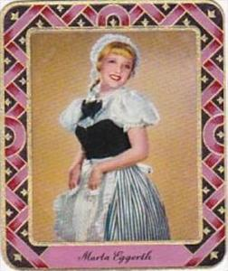 Garbaty Cigarette Card 1934 Modern Beauties No 28 Marla Eggerth
