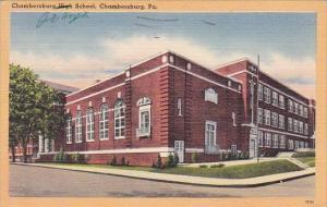 Pennsylvania Chambersburg High School 1959