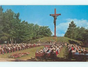 Unused Pre-1980 LARGEST JESUS CHRIST CROSS IN THE WORLD Indian River MI t4042