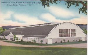 Vermont Middlebury Memorial Field House Middlebury College