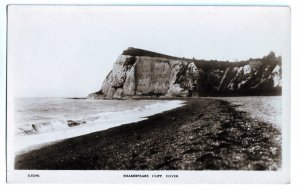 P1250 old unused RPPC Shakespeare Cliff (Samphire Hoe), Dover, Kent, England, UK