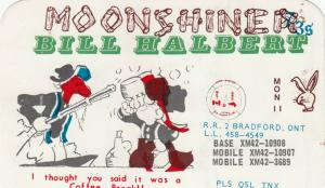 BRADFORD , Ontario , 50-60s ; QSL Radio Postcard