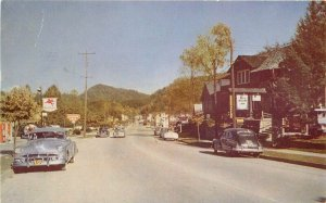 Ashville Gatlinburg Tennessee 1950s Mobile Gas Station Main Postcard 9364
