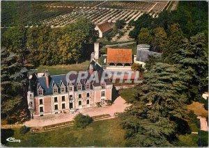 Modern Postcard Bossay sur Claise (I and L) View Aerienne Chateau de Ris Holi...
