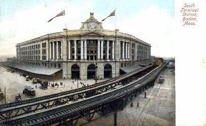 South Terminal Station, Boston, Massachusetts, MA, USA,  Railroad Train Depot...