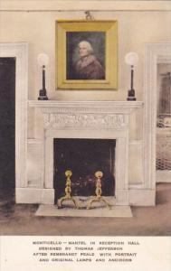 Virginia Charlottesvile Monticello Mantel In Reception Hall Designed By Thoma...