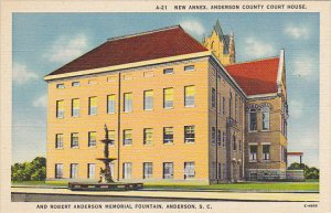 New Annex Anderson County Court House and Robert Anderson Memorial Fountain A...