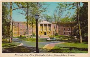 Virginia Fredericksburg Marshall Hall Mary Washington College 1966