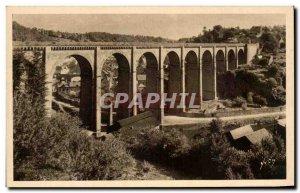 Old Postcard Dinan Viaduct From Lanvallay