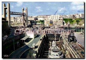 Postcard Modern Arsenal Brest and Le Pont De Recouvrance