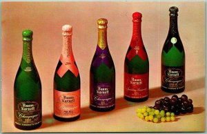 St. Helena, California Postcard HANNS KORNELL CELLARS Winery Champagne c1960s