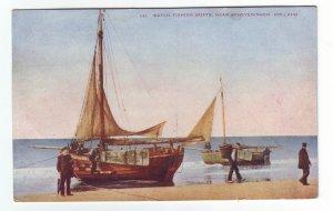 P1306 vintage unused postcard dutch fishing vessel near scheveningen holland