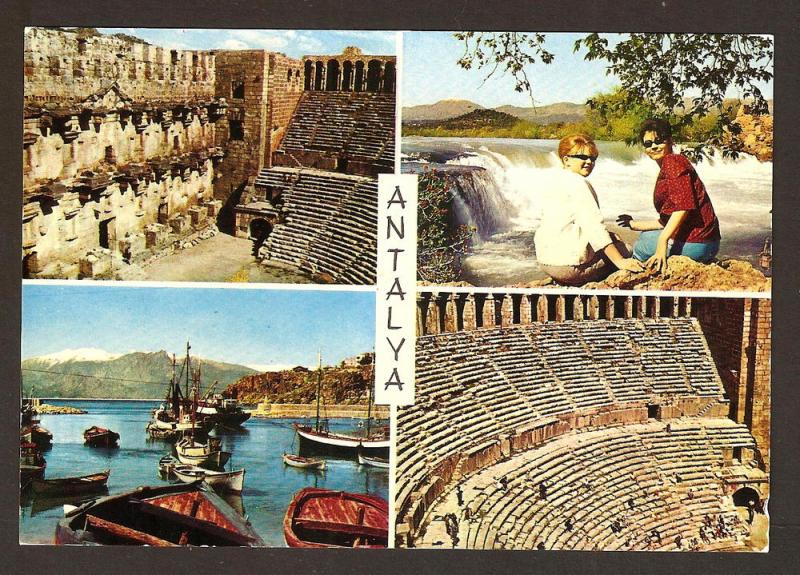 TURKEY VINTAGE POSTCARD -ANTALYA