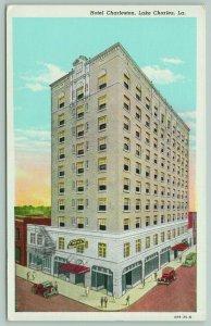 Lake Charles Louisiana~Hotel Charleston~Fire Escape~Ate Sunday Dinner~1946 Linen