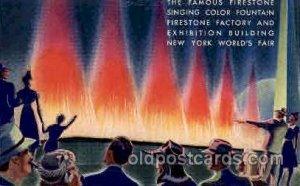 Firestone Fountains New York Worlds Fair 1939 Exhibition Unused