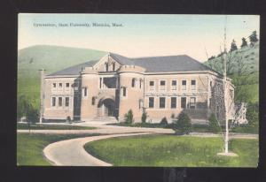 MISSOULA MONTANA STATE UNIVERSITY GYM BASKETBALL STADIUM VINTAGE POSTCARD