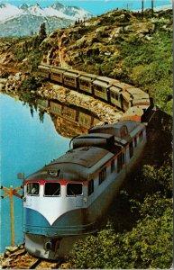 Along The White Pass Yukon YT Train Vintage Postcard F15