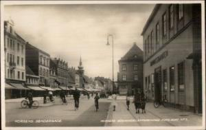 Horsens Sondergade - Denmark Used Real Photo Postcard Cover Stamps