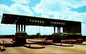 Oklahoma Turnpikes Toll Booth Entrance To Turner Turnpike