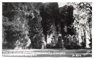 Forest Grove Oregon Pacific University Marsh Hall Real Photo Postcard J69585