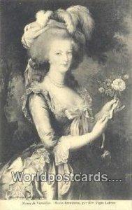 Marie Antoinette Musee de Versailles, France, Carte, Unused