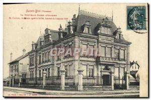 Postcard Former Bank Saint-Die The new Caisse d & # 39Epargne