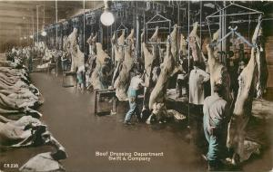 Beef Dressing Department Swift & Company Bromide Paper Real Photo Postcard U.S.A