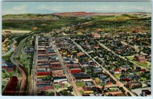 GALLUP, New Mexico NM   AERIAL VIEW  ca 1940s Linen  McKinley County  Postcard