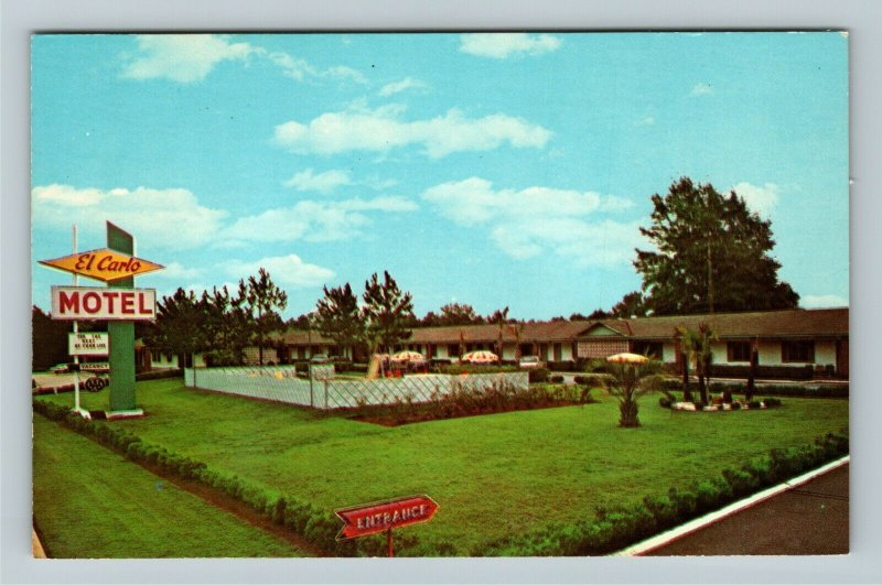 Valdosta GA- Georgia, El Carlo Motel, Advertising, Vintage Chrome Postcard