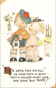 Mabel Lucie Attwell. I'd give you my all.. Valentine  Seri PC # 1864