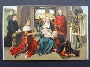 THE ADORATION OF THE MAGI by Artist Memling c1909 Postcard by Misch & Co.1104