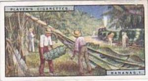Player Vintage Cigarette Card Products Of The World 1928 No 2 Bananas 1 Gathe...
