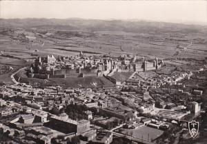 France Cite de Carcassonne Vue aerienne