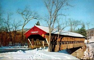 New Hampshire White Mountains Jackson Covered Bridge In Winter