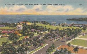 Florida Miami Bayfront Park Bandshell and Royal Palm Club And Docks
