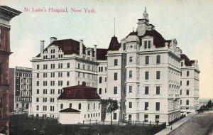 St. Luke's Hospital, Manhattan, New York City, Early Postcard, Unused