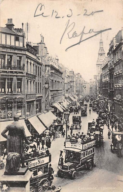 England London Cheapside animated 1920