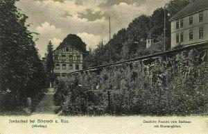 Jordan bei Biberach am Riss Oestliche Ansicht Badhaus Blumengarten Postcard