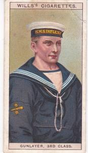 Cigarette Card Wills Naval Dress & Badges No 42 Gunlayer, 3rd Class